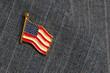 Leinwanddruck Bild - Flag lapel pin