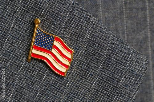 Leinwanddruck Bild Flag lapel pin