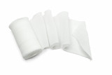 White medical gauze bandage