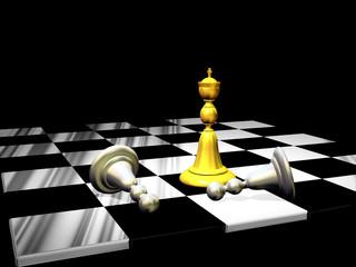 3d Scacchiera con Scacchi-Chessboard with Checkers-2