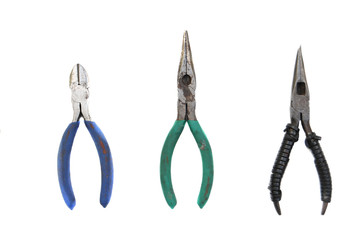 Collection of open pliers