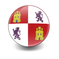 Esfera brillante con bandera Castilla y Leon