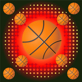 Basketballs with haftone