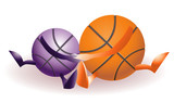 Funny basketballs in love
