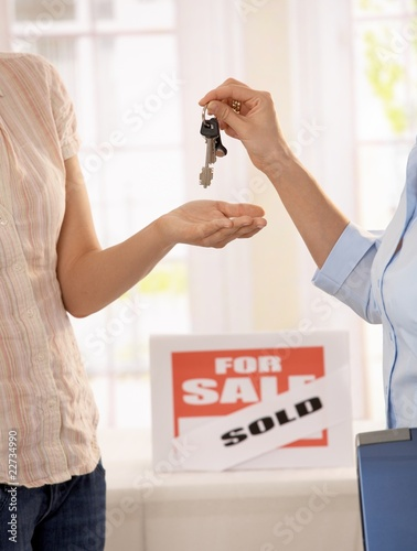 Getting keys to new house