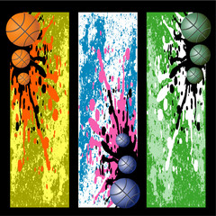 Three bright and blots Basket background