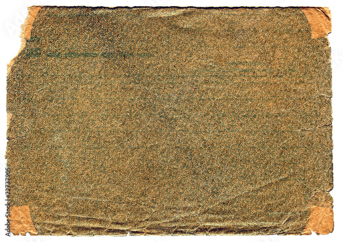 old textured paper page isolated on the white