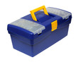 blue plastic toolbox