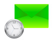 Envelope with clock