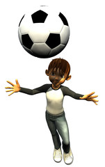 kid boy teen human footballer head