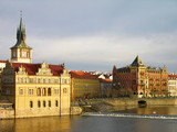 Vltava river embankment, Prague poster