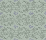 Light green and purple floral wallpaper