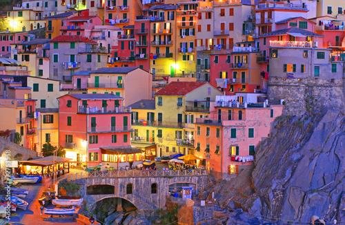 Fotobehang Mediterraans Europa Manarola, Cinque Terre, Italy