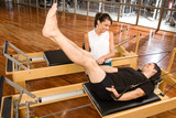 Assitance during pilates training