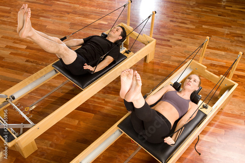 Poster Fitness Pilates training