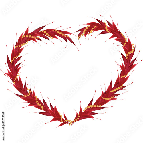 red heart frame