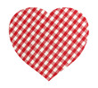 Heart shape made of textile plaid material