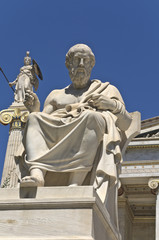 Plato statue at the Academy of Athens in Greece