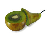 The transformation of pear in the kiwi poster