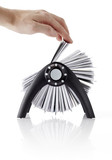 Rolodex with hand