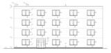 Construction drawing of a small administration building. poster