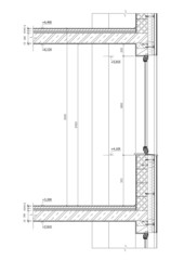 Construction drawing - cross section of a window.
