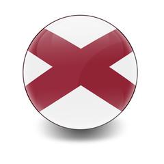 Esfera brillante con bandera Alabama