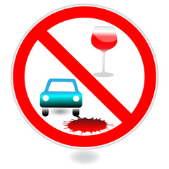 Sign, No drink and drive.Vector