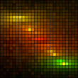 Abstract multicolor lights dark mosaic background.