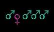 Non-parité hommes/femmes