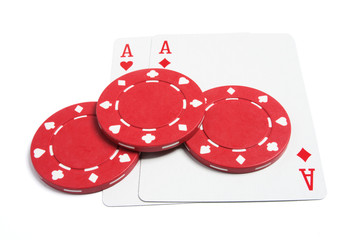 Poker Chips and Playing Cards