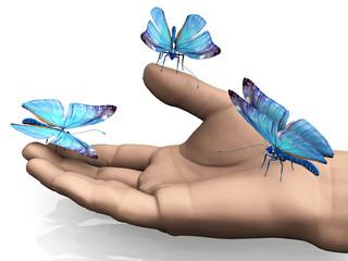 les papillons apprivoisés