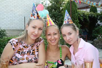 3 beautiful girls celebrate birthday