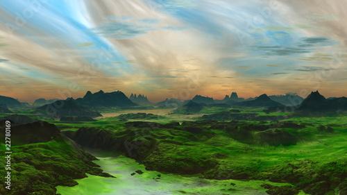 Fototapeten,abenddämmerung,landschaft,himmel,wolken