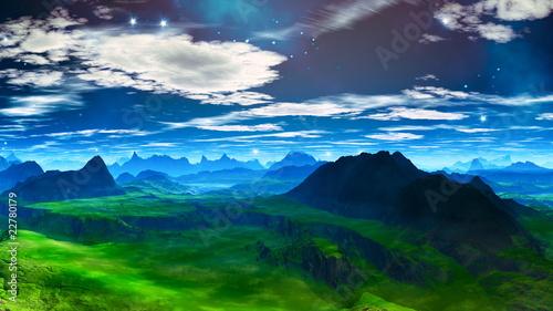 Fototapeten,gras,hügel,moos,landschaft
