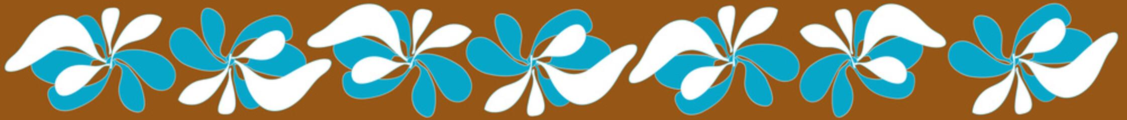 threading graphic flower brown background