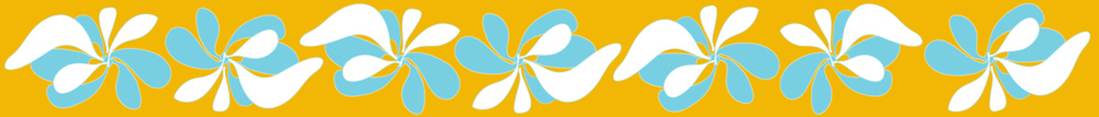 threading graphic flower yellow background