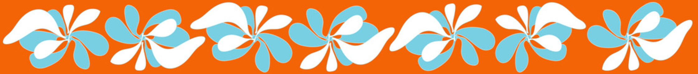 threading graphic flower orange background