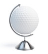globe golf ball sign