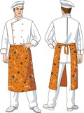 The man the cook in an apron poster