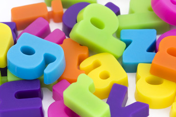 background of magnetic letters