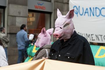 manifestazione vegetariani
