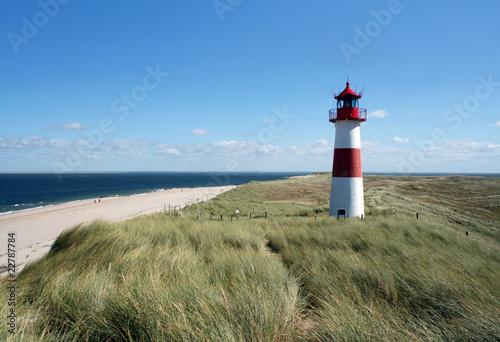 Fotobehang Vuurtoren / Mill Leuchtturm auf Sylt
