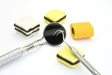Candies and dental tools