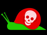 Toxic snail with skull symbol poster
