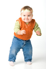 Standing funny baby