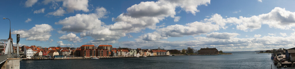 Panorama of danish town Sønderborg (Sonderburg)