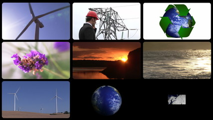 Montage presenting the concept of green technology