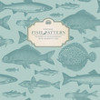 roleta: retro fish pattern (background behind label tiles seamlessly)