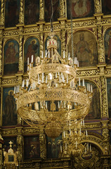 Trinity Cathedral in Pskov Kremlin. Internal interiors